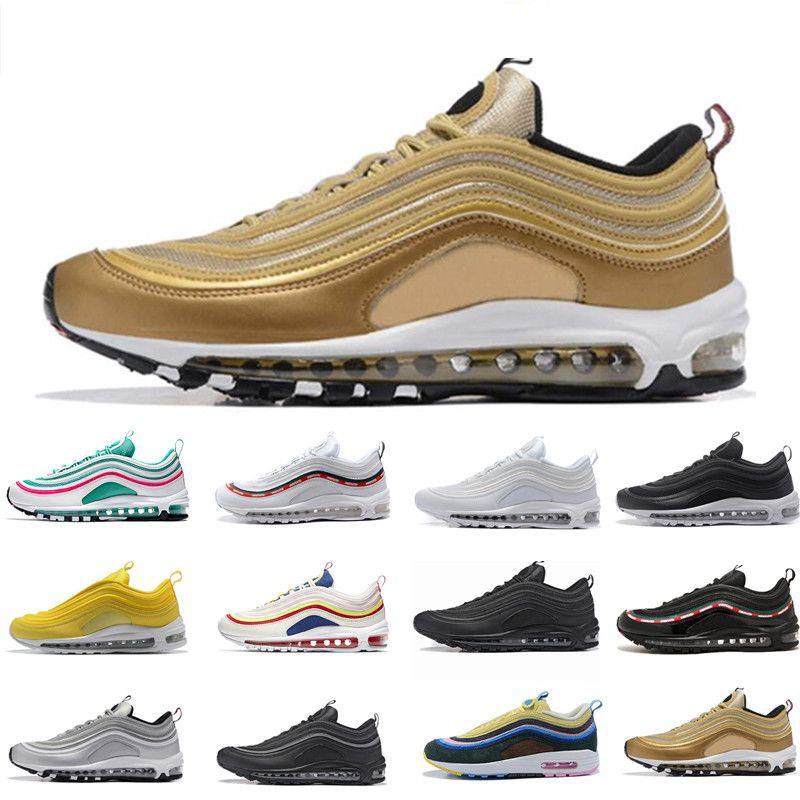 sneakers for cheap 2b3cc 266f6 Acquista Nike Air Max 97 Airmax 2018 Undefeated 97 Ultra OG Plus Scarpe Da  Corsa Da Uomo Air Run Gold Silver 97s Sport Maxes Scarpe Da Ginnastica Da  Donna ...