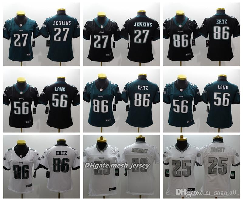 brand new 3ca8a fae6d Women Philadelphia Eagles American Football Jersey 27 Malcolm Jenkins 56  Chris Long 86 Zach Ertz 29 Murray Color Rush Stitching Jerseys