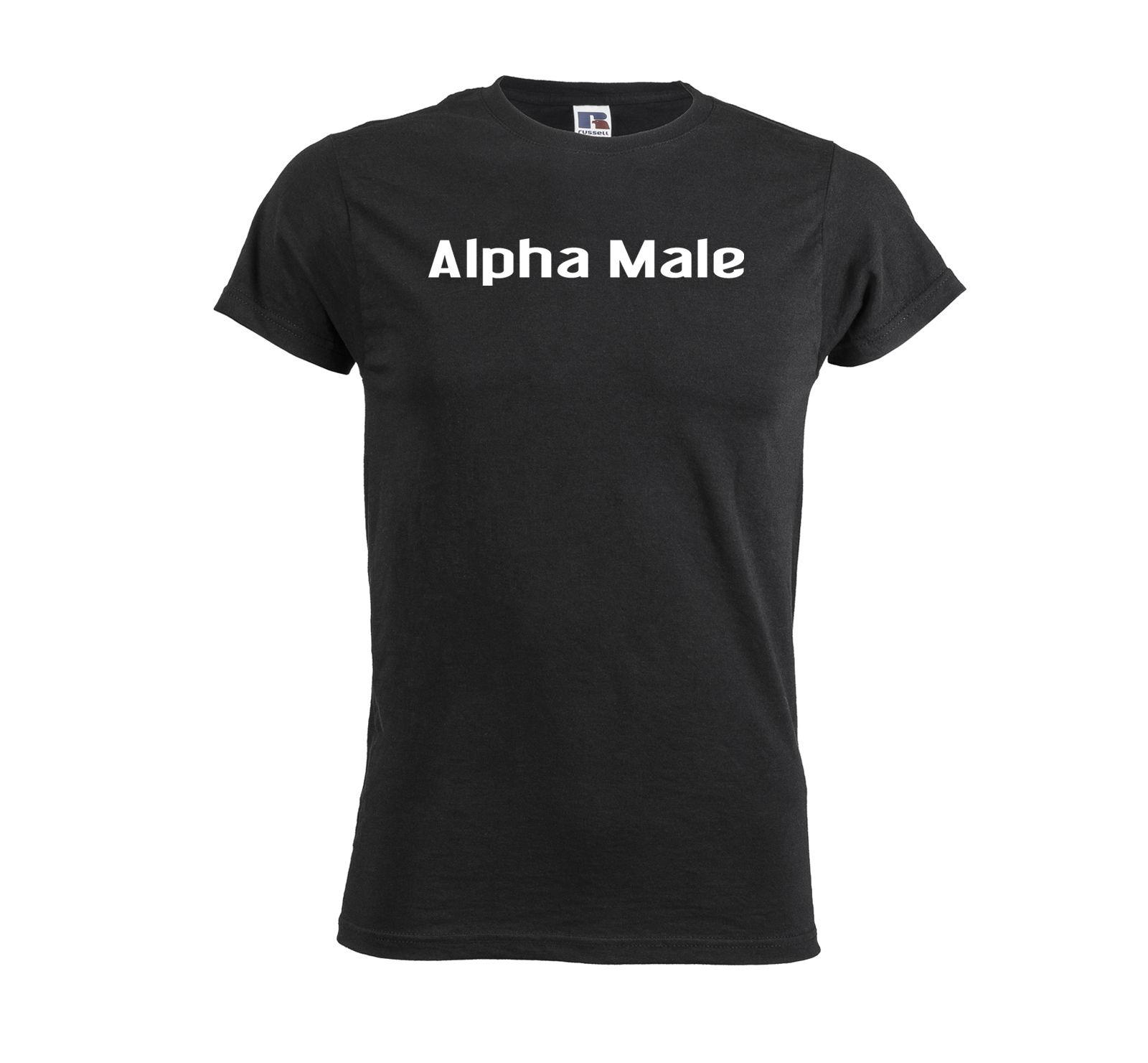 Alpha Male Mens T Shirt Funny Unique Birthday Gift For Him Top Men Outfit Tee 2018 New Short Sleeve Family Buy Funky Shirts Online Ot From