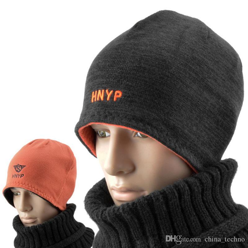 8e5f381d5fb Unisex Beanies Reversible Knitted Hats Winter Fleece Skull Cap ...