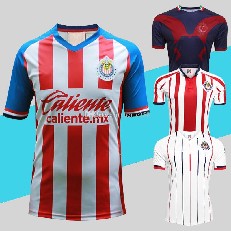 premium selection f1b0d c5b0f Chivas Jersey 2019 2020 Soccer Shirt Home Away Third Guadalajara Uniforms  Liga Mx Top Quality More 10pcs Free DHL Shipping