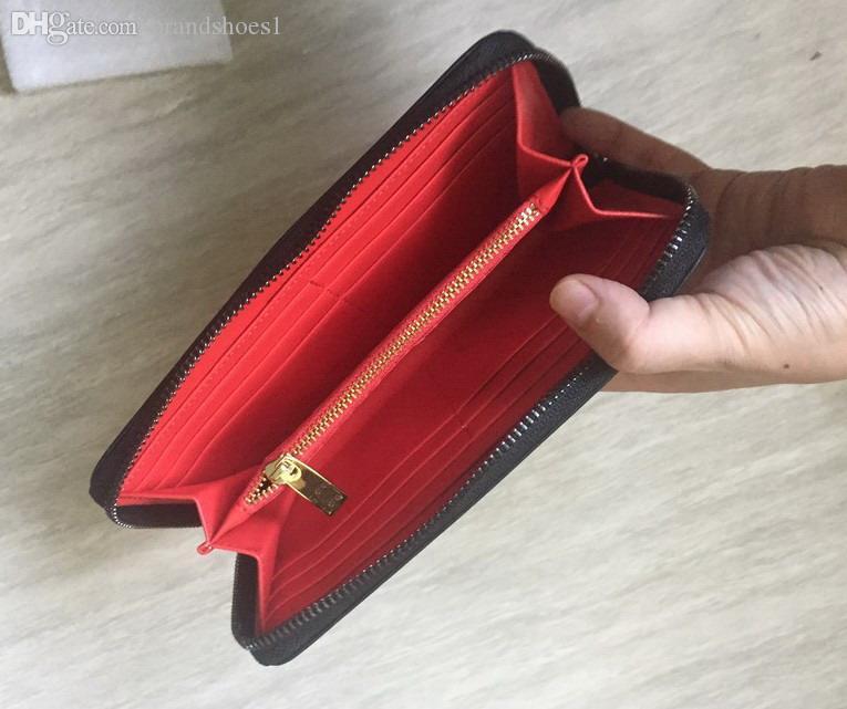 Top Nuovi Uomo Donna Vera pelle borsa borsa Rivetti miscela di colore della borsa borchie Portafogli Zipper Clutch di colore della caramella Punk