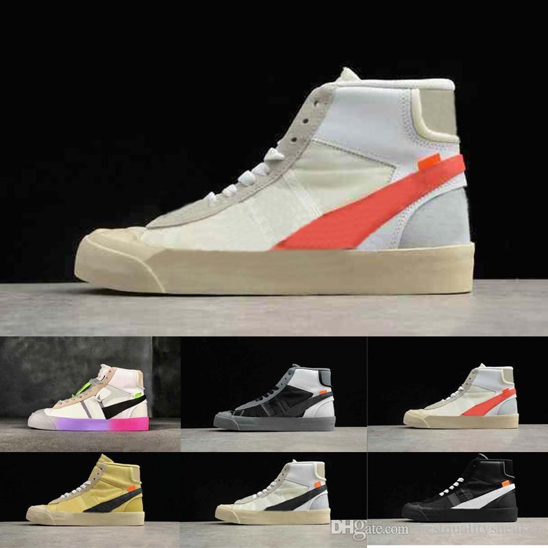 Diseñador para hombre Blazers Mediados todos los zapatos para correr Cojín de aire para hombres Mujeres OG Ultra Triple Blanco Negro Deportes de lujo