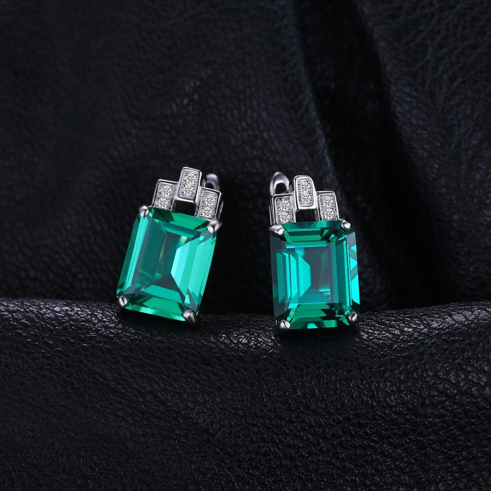 d76e13d246d6 Compre Omen Invierno Chaqueta De Cuero JewelryPalace Luxury 7.6ct Verde  Nano Ruso Creado Esmeraldas Puro 925 Clip De Plata Esterlina En Pendientes  Fashi .