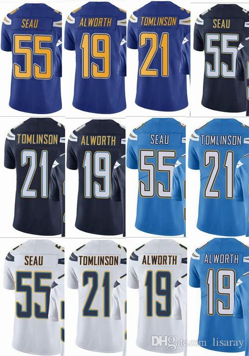new styles 7319c 13185 Charger 21 Junior Seau 21 LaDainian Tomlinson 19 Lance Alworth Men Women  Youth Vapor Untouchable Color Rush Custom Elite Football Jersey