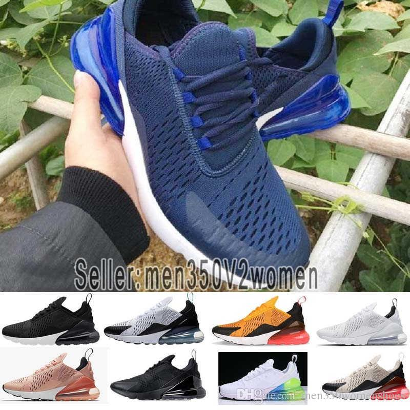 detailing 9c6f0 e0782 270 Running Shoes 270s Men Women Trainer BE TRUE Hot Punch Triple Black  White Oreo Teal Photo Blue Sports Sneakers Size 5.5-11