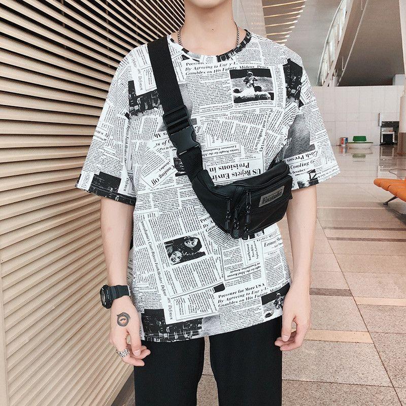 53ce7671a Funny Newspaper 3d Digital Print T Shirt Men Summer Loose Short Sleeve  Tshirt Tops Fashion Style Harajuku T Shirt Wgtx184 Crazy T Shirts For Men Cheap  T ...