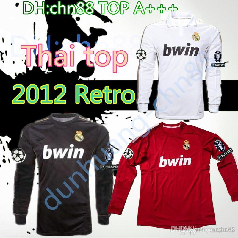 3255c81f722 2019 11 12 Real Madrid Soccer Jeresy  22 Di Maria  14 Alonso  7 Ronaldo  8  Kaka  10 Ozil Jersey 2011 2012 Vintage Trikot Football Shirts Maillot From  ...