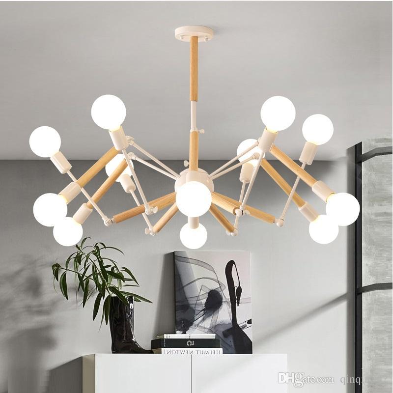 Lampadario LED vintage moderno ragno lustro E27 illuminazione soggiorno per  cucina ristorante lampadari luci LED