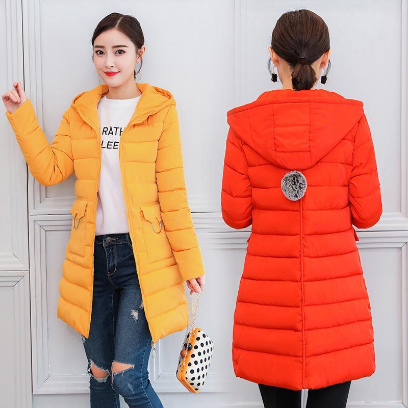 659cca9a33f39 Satın Al Yeni Kapşonlu İnce Kürk Topu Aşağı Pamuk Yastıklı Ceket Ceket  Kadın Moda Kış Ceket Kadınlar Kalın Uzun Aşağı Parkas Dış Giyim, $66.8    DHgate.