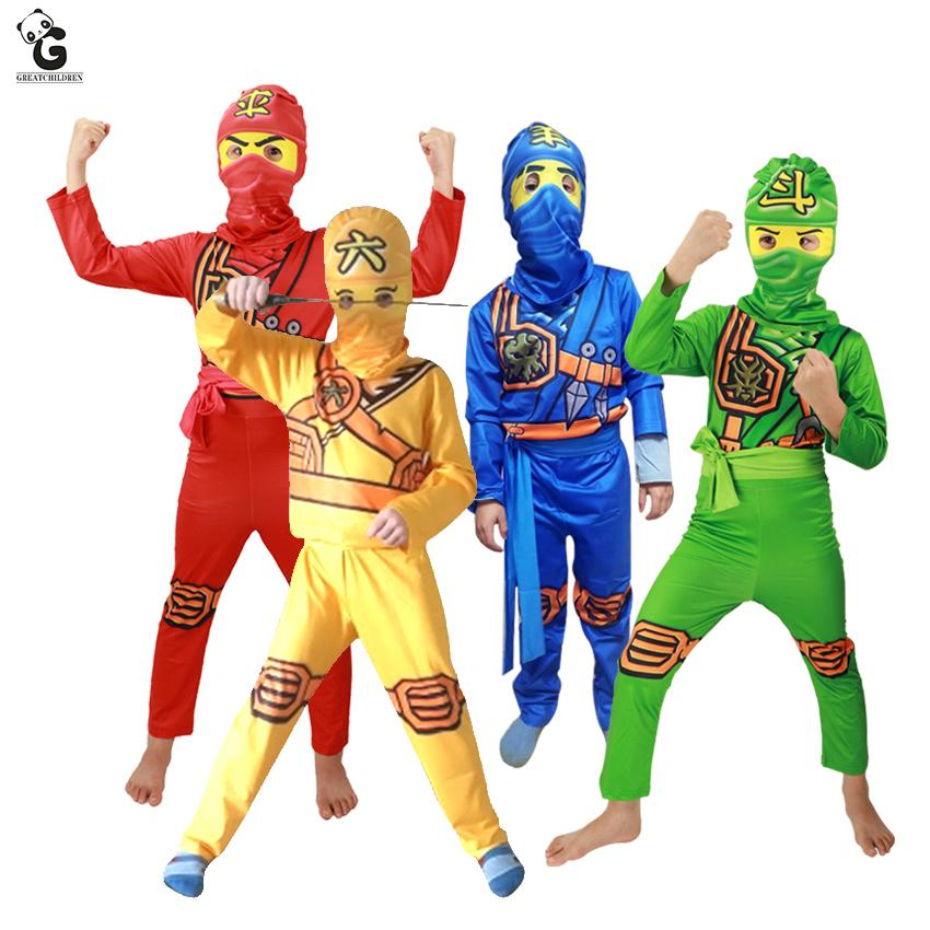 Ninjago Halloween Costume.2019 Ninjago Costumes Clothes Superhero Cosplay Ninja Girls