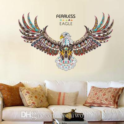 20190621 New Eagle Fashion Personality Bedroom Living Room Study Office Background Decoration Wall Painting Self-adhesive