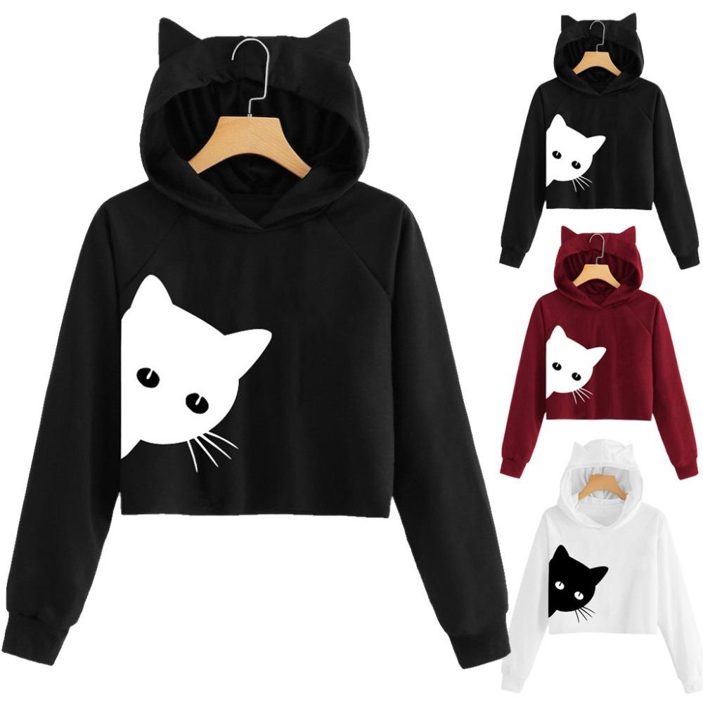 The Best Women Winter Long Sleeve Jumper Leopard Print Hoodie Sweatshirt Pullover Tops Women's Clothing