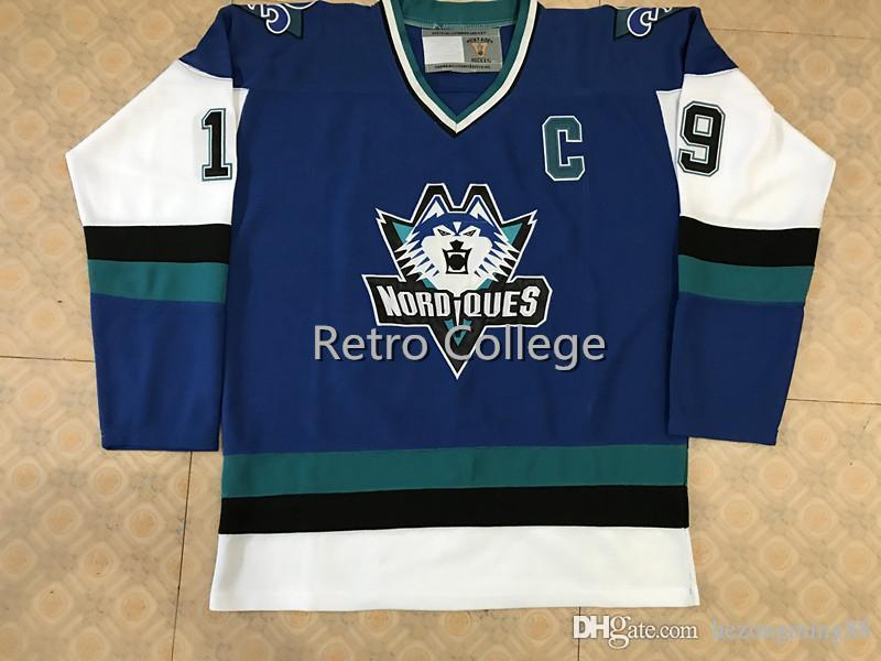 bcf603d81 2019 Quebec Nordiques 1995 1996 Pro Wolf  19 Joe Sakic Mens Hockey Jersey  Embroidery Stitched Customize Any Number And Name From Hezongming55