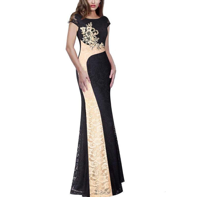 a8d402a185 Vfemage Womens Floral Lace Applique Colorblock Patchwork Lace Formal  Evening Gowns Mother Of Bride Bodycon Maxi Long Dress 1165 Day Dresses  Dresses For Sale ...