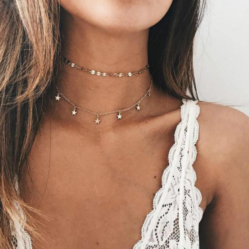 2018 Orecchini semplici a forma di stella d'oro donna Orecchini brincos Oorbellen boucle d'oreille pendientes bijoux