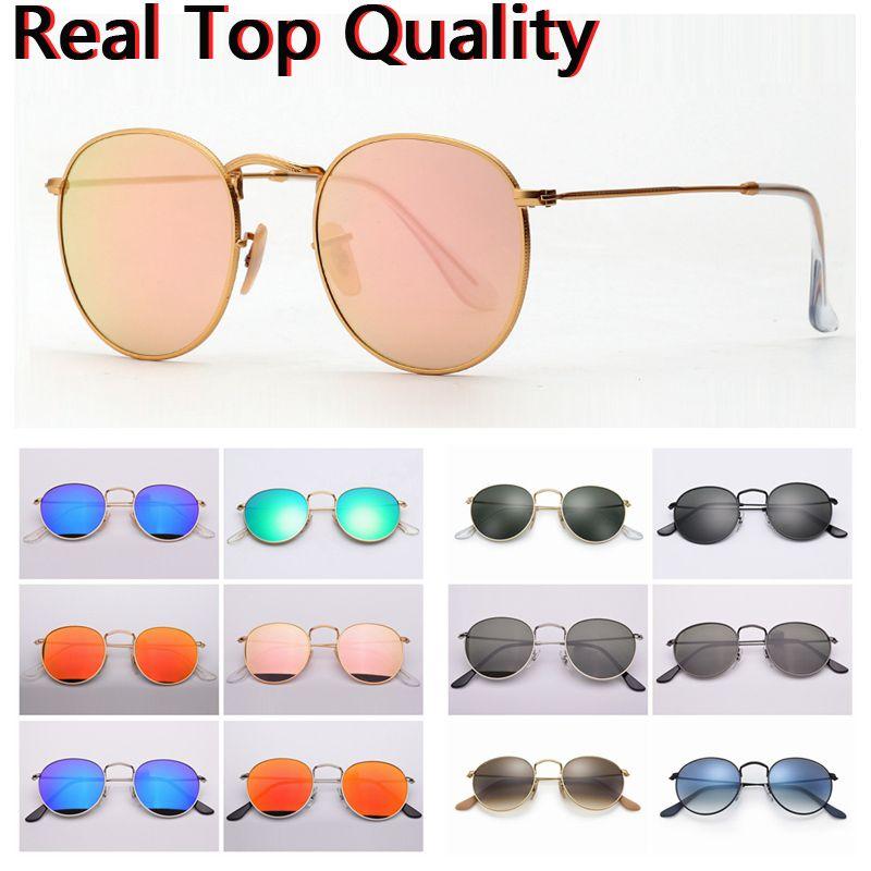 Compre Gafas De Sol De Calidad Superior Marca Ray Modelo 3447 UV400 Lentes  De Cristal Reales Lentes De Sol Precio Al Por Mayor, Funda De Cuero  Original, ... 79b9022f41