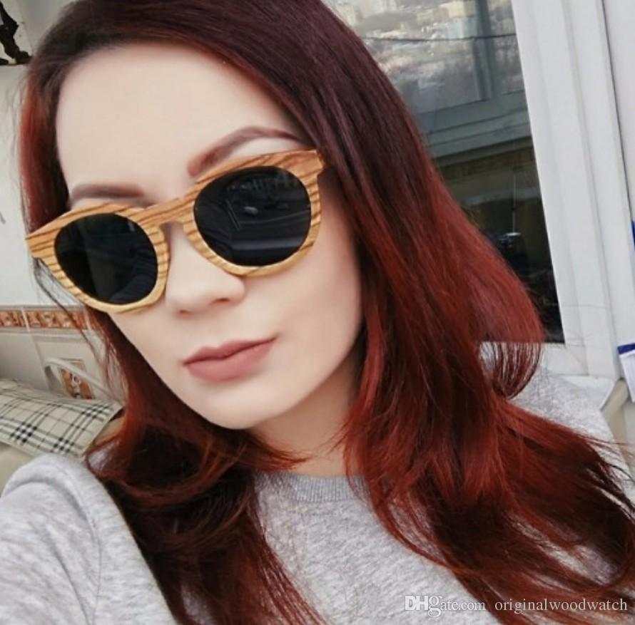 da37823b56b BOBO BIRD Luxury Brand Polarized Lens Protection Sun Glasses Women Beach  Wood Sunglasses Men with Wooden Box Steampunk Cat Eye Sunglasses Sunglasses  Men ...