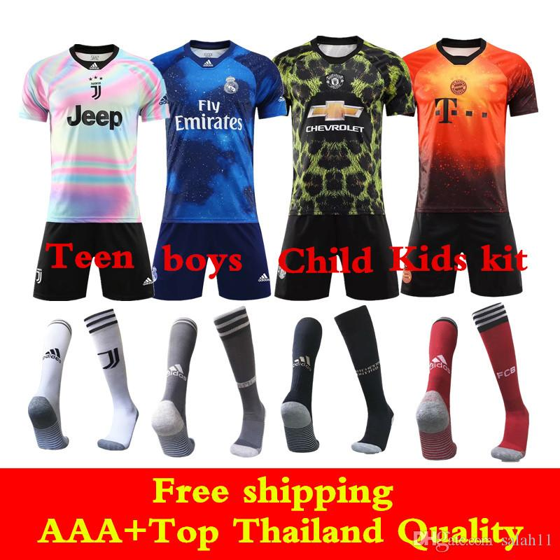 2019 Newest 2020 EA SPORTS Jersey Kids Kits Juventus Ronaldo Soccer Jerseys  Bayern Real Madrid Modric Man United Pogba Child Football Shirts From  Salah11 d7a13cd43