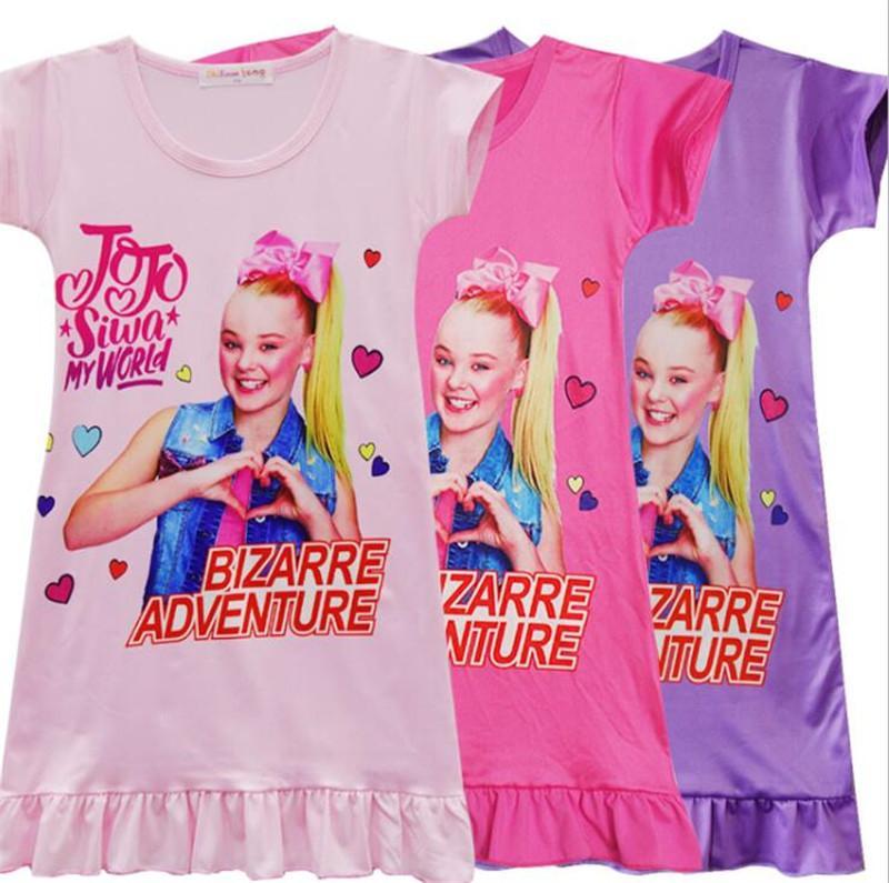 66163b9f76c 2019 2019 INS Girls Jojo Siwa Dress T Shirt Dresses Kids Cartoon Print  Princess Pattern Short Sleeve Shirt Summer Clothes 110 150 Size A2204 Hot  From ...