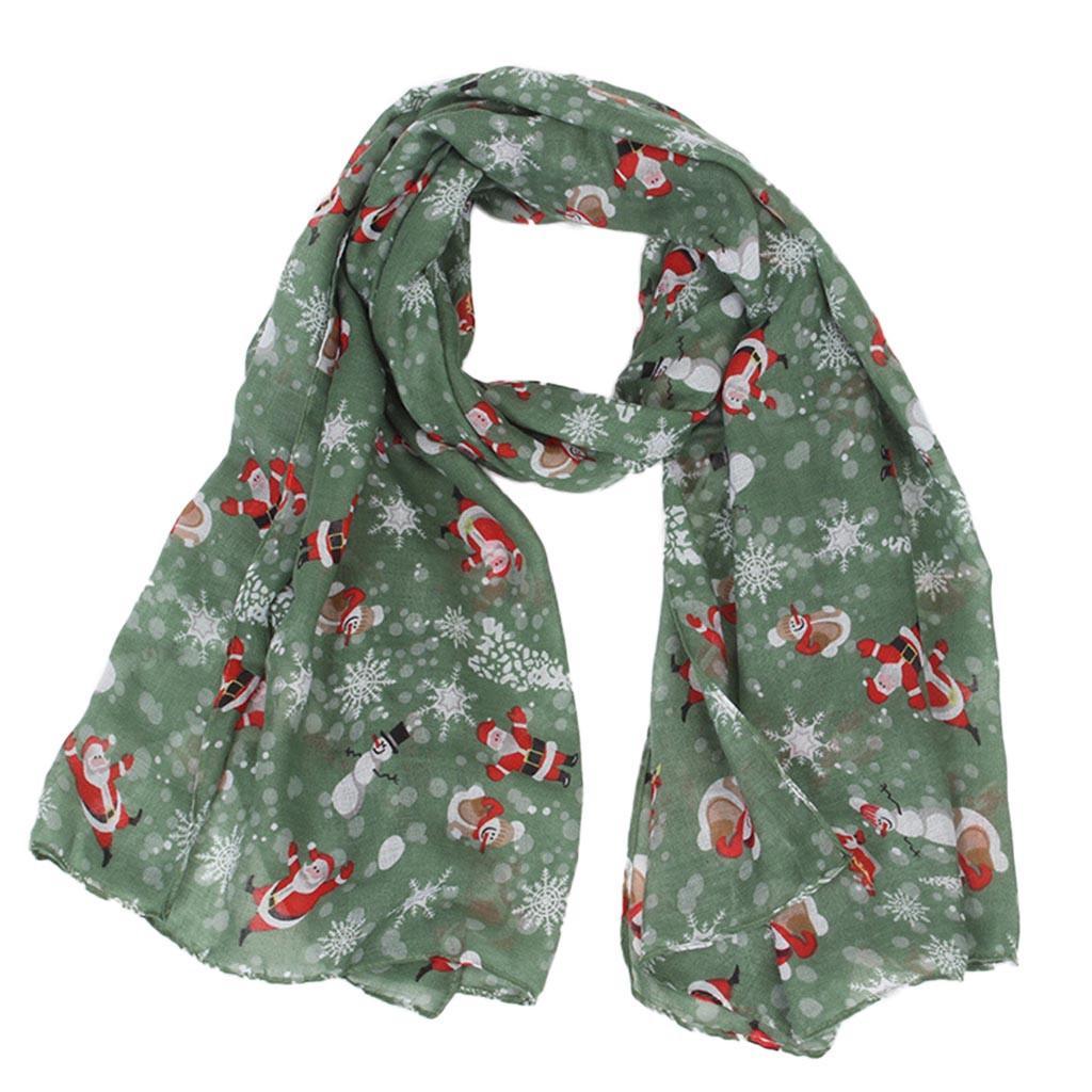 e44c92e54 New Silk Scarf Christmas Women Gift Santa Snow Snowman Scarf Sun Protection  Gauze Kerchief High Quality Materials Gift Floral Bandana Store Yellow  Bandanas ...