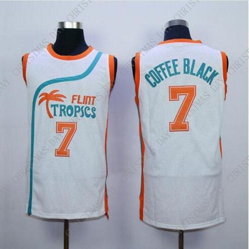 d810944ad71e 2019 Cheap Custom Flint Tropics Movie  7 COFFEE Jersey 2016 Basketball  Jerseys White Stitched Customize Any Number Name MEN WOMEN YOUTH XS 5XL  From ...