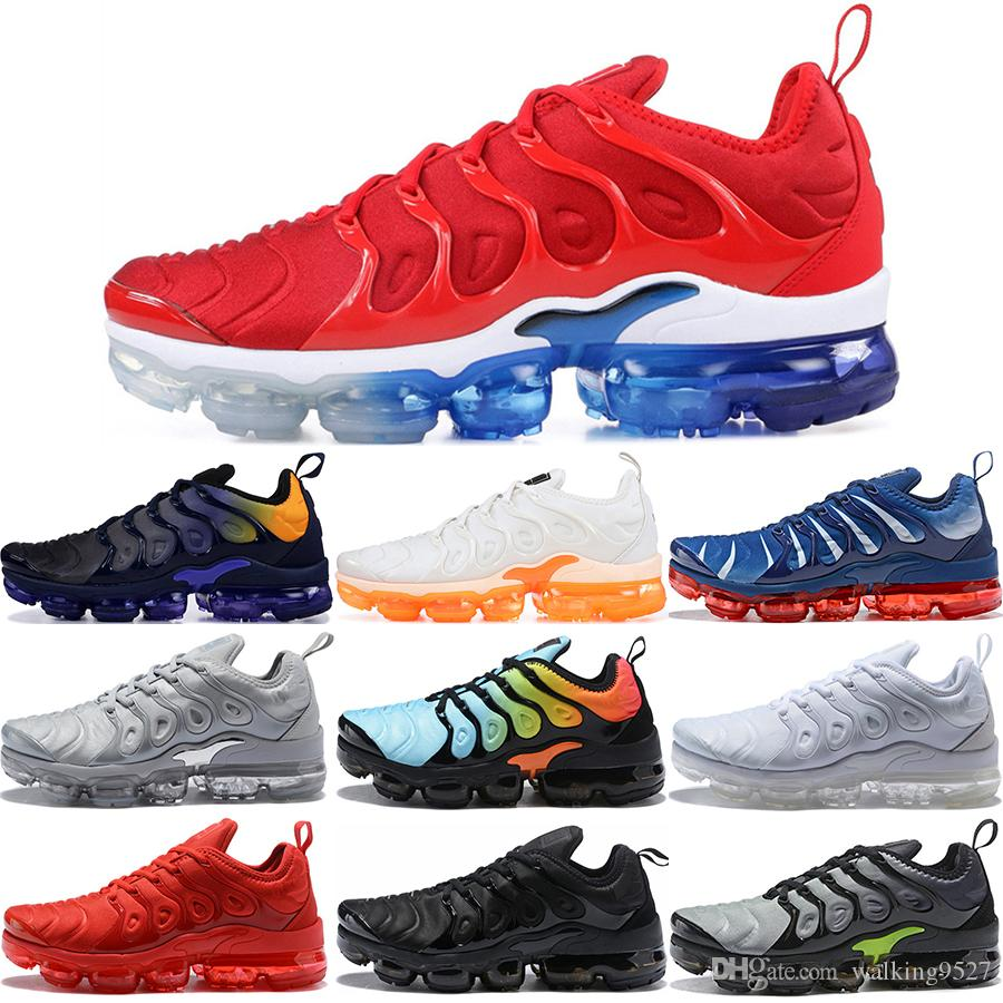 cae108929fa139 2019 2019 TN Plus Men Running Shoes USA Game Royal Photo Blus Tropical  Sunset Wolf Grey Designer Shoes Sport Sneakers Trainers 36 45 From  Walking9527, ...