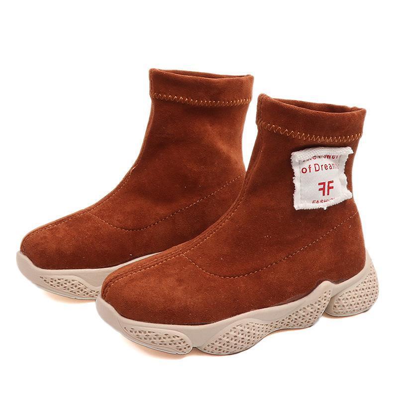 Compre 2018 Otoño Invierno Niña Bebé Niño Botas Niños Tela Elástica Botas  Estilo Casual Niños Calcetines Zapatos Cómodos Botas De Fondo Suave A  16.4  Del ... 0f6f7900e20