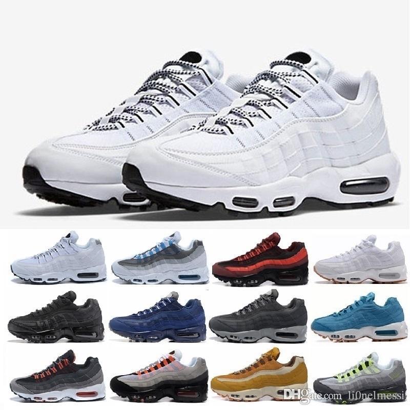 super popular a8816 17dca Acheter Nike Air Max Airmax Nouvelles Chaussures De Course OG Women 95 Pink  Wheat Black White Sneakers 95s Ultra 20e Anniversaire Femmes Formateurs ...