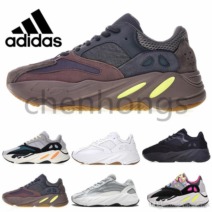 18627dd70262b 2019 Original Adidas Air Yeezy Kanye West 700 Bst Yeezys Yezzy Yezzys Yung  1 Sneaker Original EE9614 Runner Tan Mauve Wave 700s V2 Men Runing Shoes 3M  ...