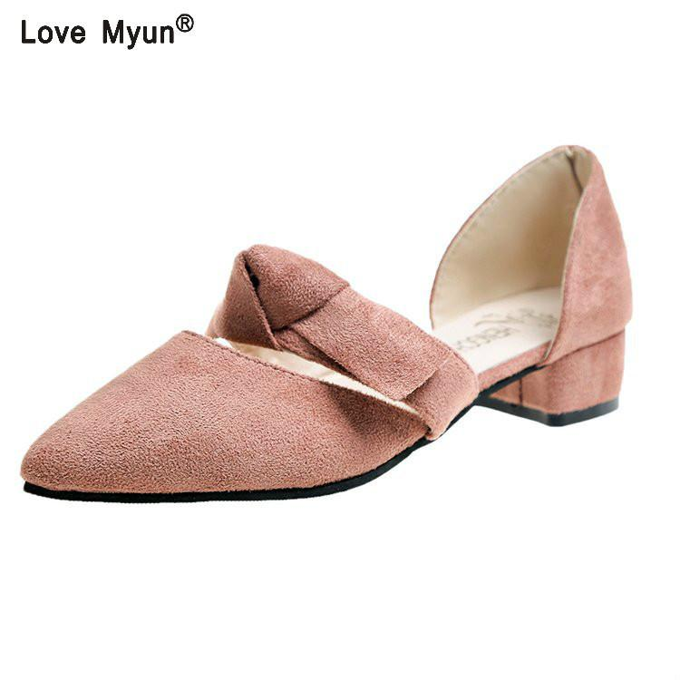 94b6624456942a Dress Shoes New Flock Square High Heels Wedding Woman Fashion Elegant Work  Pointed Toe Women Pumps Solid Big Size 8896 Mens Shoes Online Mens Dress  Boots ...