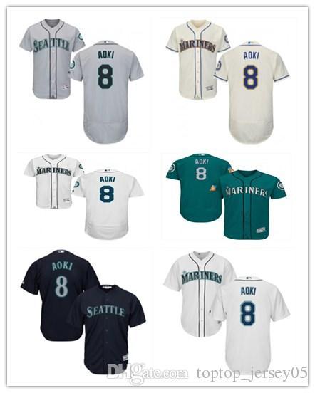 watch 0cf1f b1de2 2018 top Seattle Mariners Jerseys #8 Norichika Aoki Jerseys  men#WOMEN#YOUTH#Men's Baseball Jersey Majestic Stitched Professional  sportswear