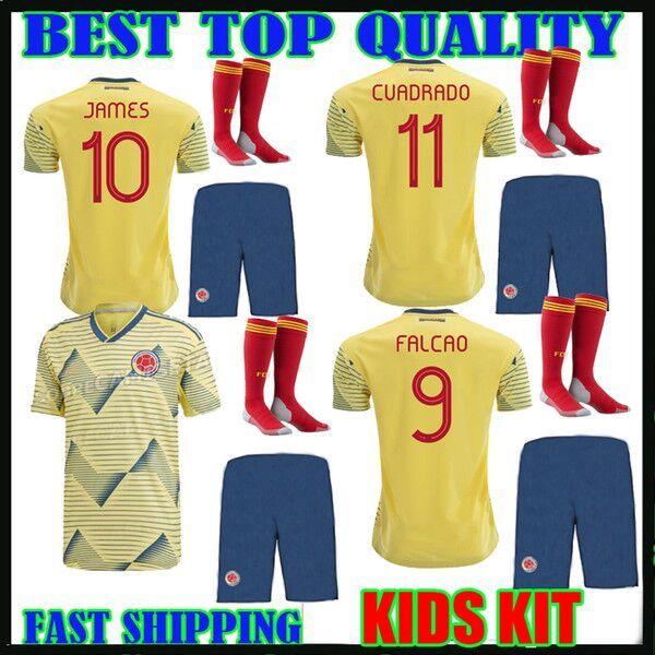 buy popular 25249 095d6 kids 2019 Colombia Soccer Jerseys Copa America Colombia JAMES Rodriguez  Camiseta de futbol FALCAO Juan CUADRADO VALDERRAMA Football shirts