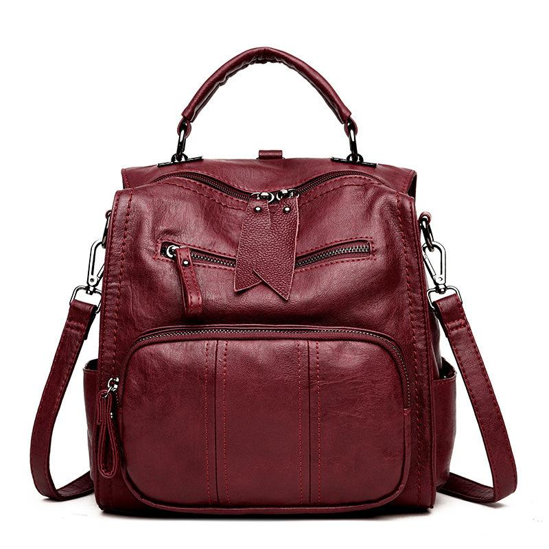d61a60bccaf0 Multifunction Women Backpack Leather Female Shoulder Bag High Quality  Travel Backpack Women Bag Mochila Feminina Rucksack
