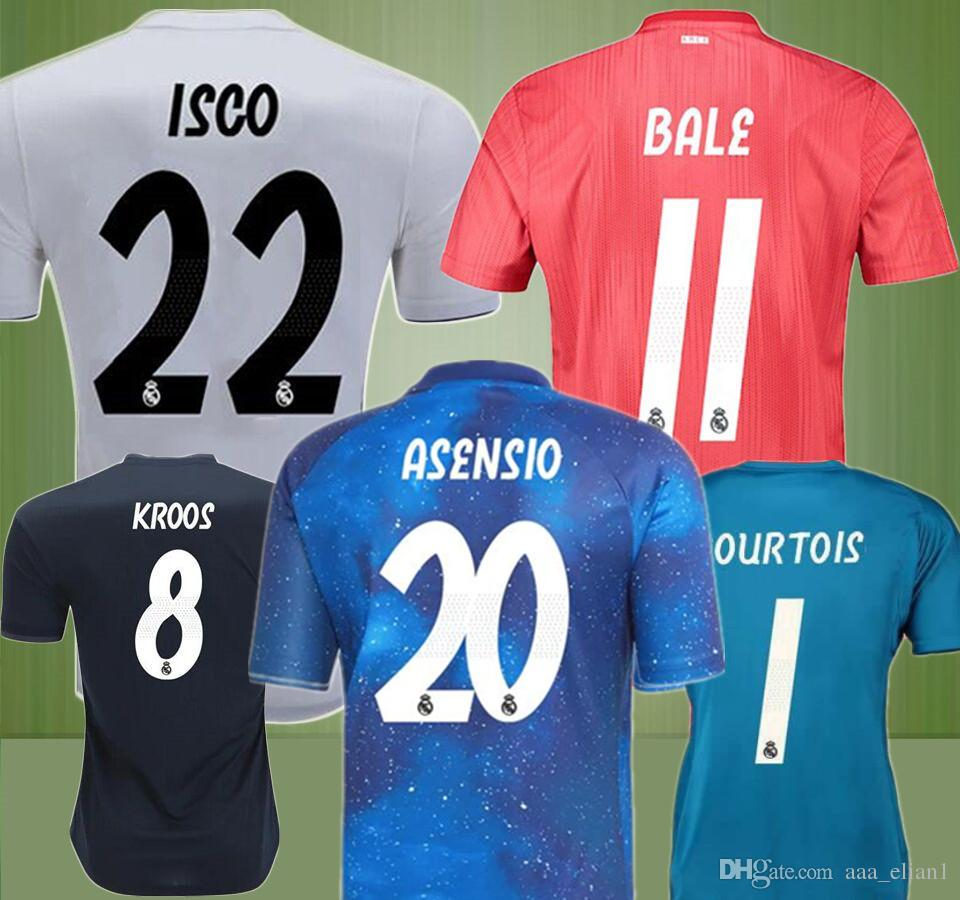 2019 2019 Top Quality EA Sport Jersey Real Madrid Soccer Jersey Home Away  3RD Goalkeeper Bale Benzema Isco MODRIC Ramos NAVAS Football Shirt Kit From  ... ab4bd956a