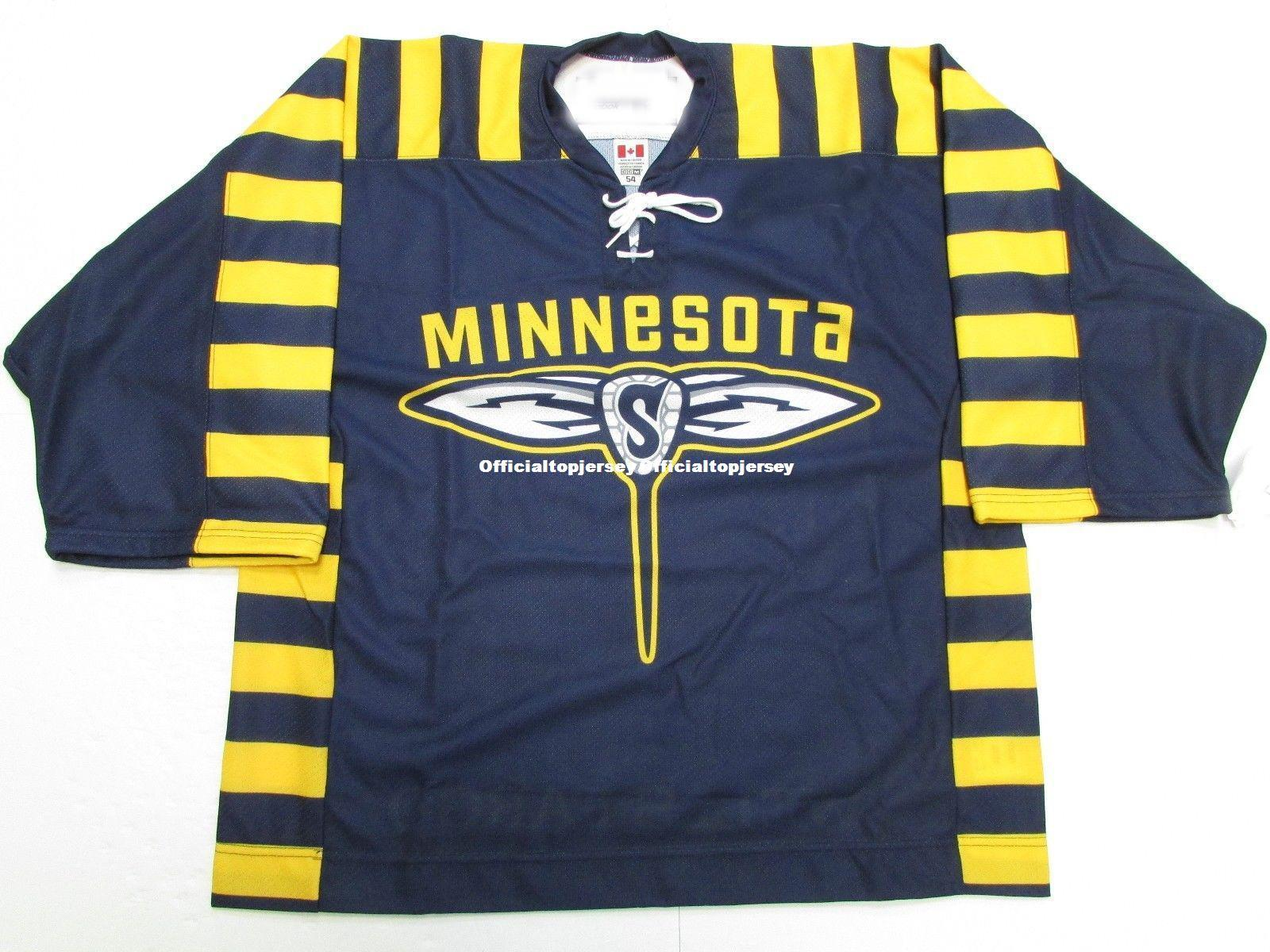 f4e03d126 2019 Cheap Custom MINNESOTA SWARM NLL LACROSSE PRO JERSEY Stitch Add Any  Number Any Name Mens Hockey Jersey GOALIE CUT 5XL From Officialtopjersey