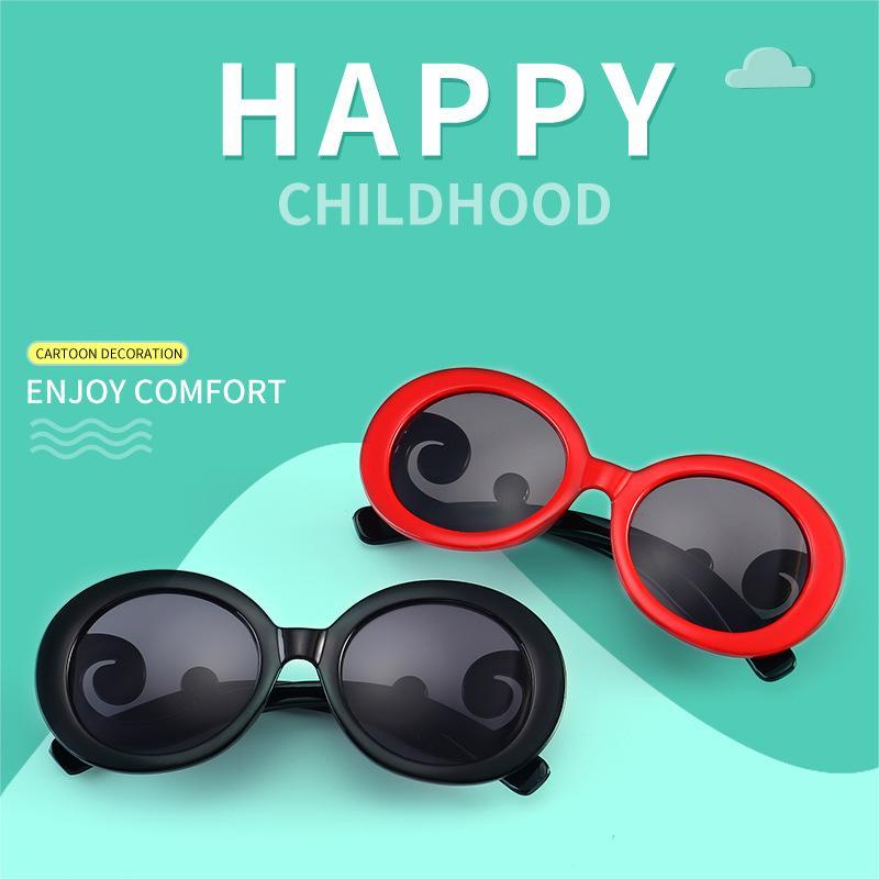 7f7e660519 Compre Niños Gafas De Sol Redondas Bebé Nube Espejo Piernas Gafas Uv400  Gafas De Sol Verano Gafas Bebé Niña Playa Bloqueador Solar AAA1822 A $1.13  Del ...