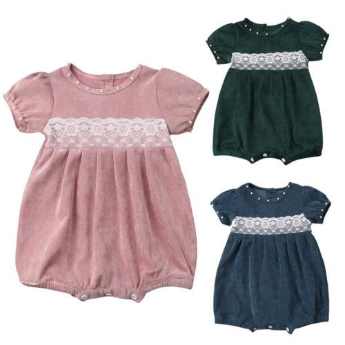 f0048b520a4 2019 0 24M Baby Girl Princess Romper Jumpsuit Short Sleeve Casual Clothes  Newborn Baby Girls Clothes From Ys shop