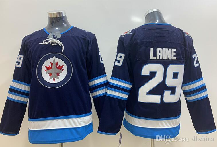 watch 13e8c 89ab4 New Kids Hockey Jerseys Jets Jerseys #29 Laine #55 Scheifele Blue Color  Youth Jersey Size S/M L/XL Mix Order Stitched All Jerseys