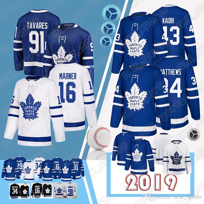 online retailer d039f dfd5a Toronto Maple Leafs jerseys 16 Mitch Marner 34 Auston Matthews 29 William  Nylander 44 Morgan Rielly 31 Frederik Andersen jersey 2019 jerseys