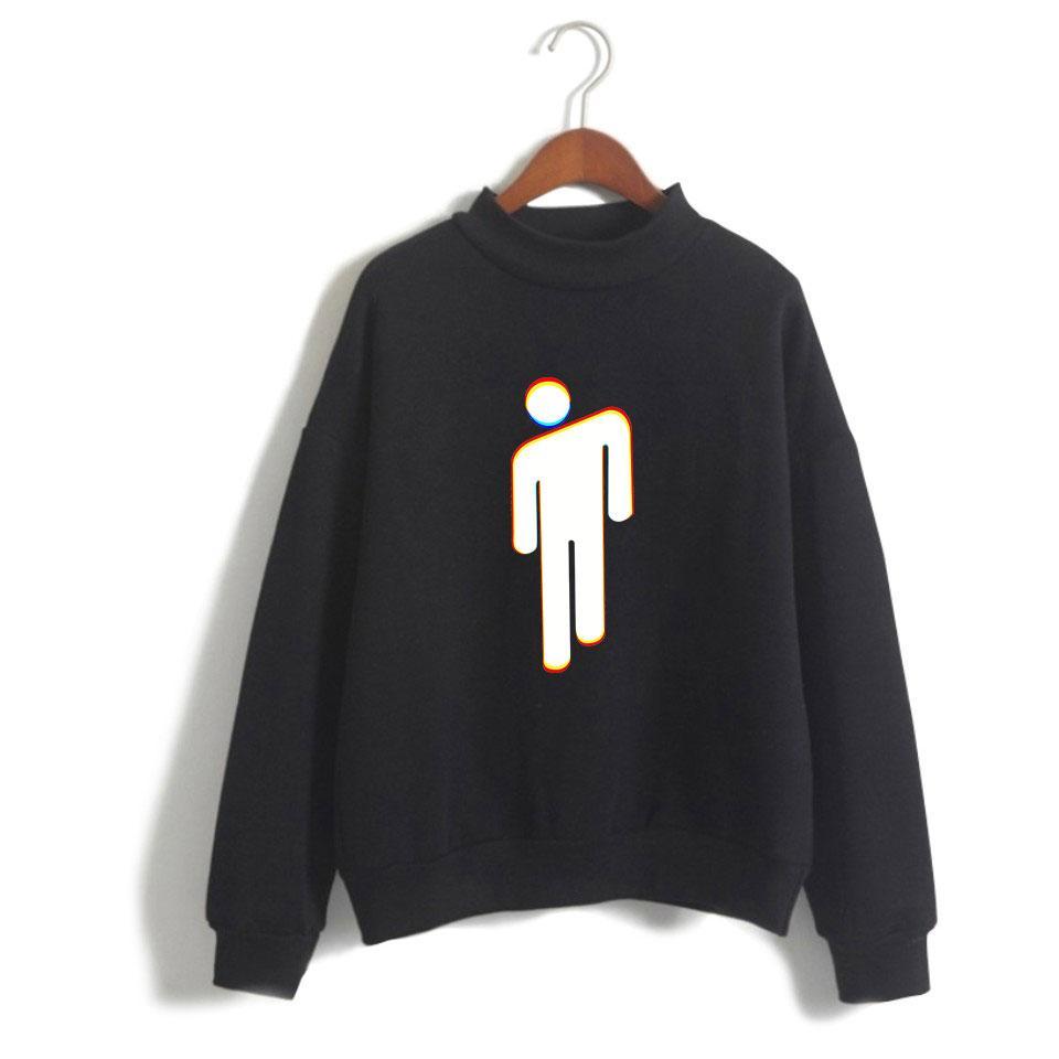 d6cb63682 2019 Billie Eilish Fashion Hip Hop High Collar Hoodies Unisex Sport Casual  Capless Sweatshirt Long Sleeve Men Women Hooded Pullover From Radishu, ...