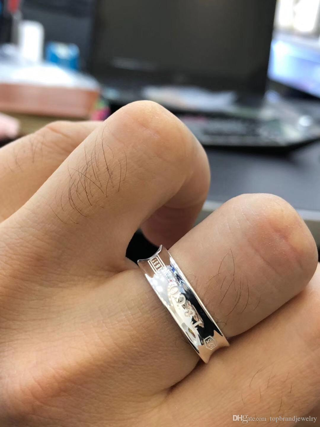 8d477b610f6 Ag925 Pure Silver 1837 Ring Sign Charm Band Ring with Logo for Women And  Man Fashion Jewelry Gift Drop Shipping PS7627 Ag925 Pure Silver 1837 Ring  Sign ...
