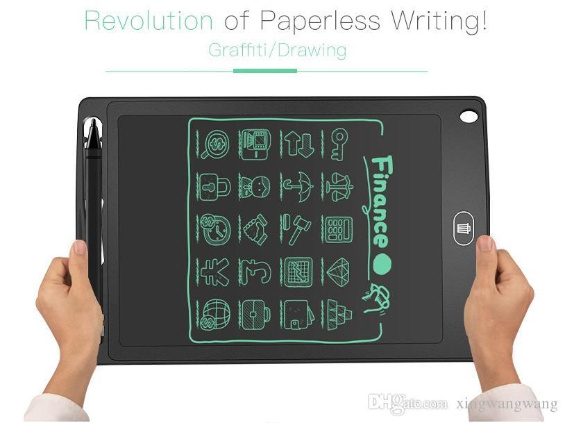 TOPBest 8.5 بوصة LCD الكتابة اللوحي رسم لوحة السبورة الكتابة اليدوية وسادات هدية لمذكرة الاطفال بلا أوراق المفكرة أقراص مع القلم ورفع مستواها
