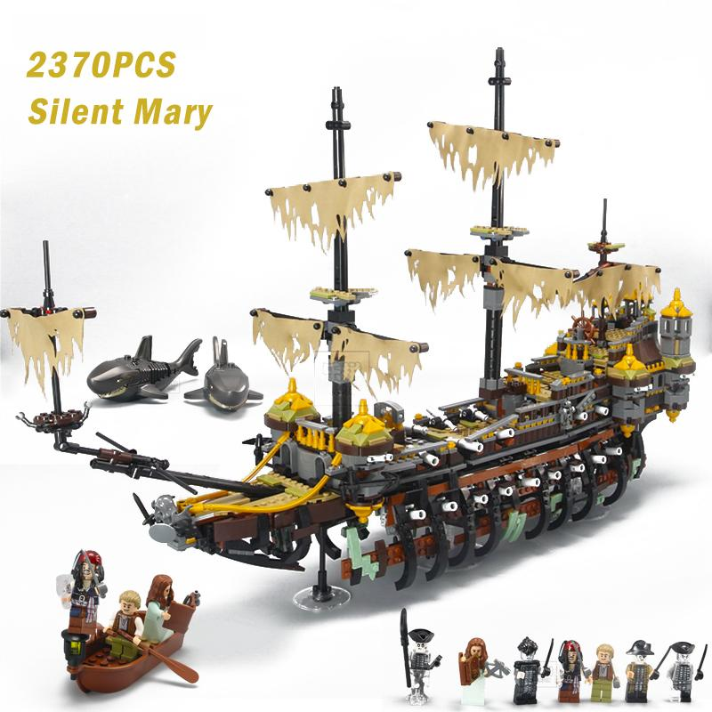 Pirate ship Captain Jack Silent Mary Ship Set Caribbean Model Building  Blocks Brick Compatible LegoINGly 71042 toys for children