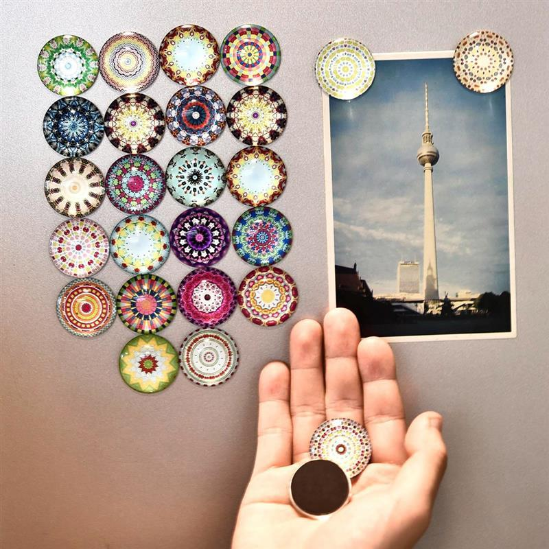 5Pcs Flower,Donut,Insect Fridge Magnet Refrigerator Sticker Home Decoration Message Holder Random