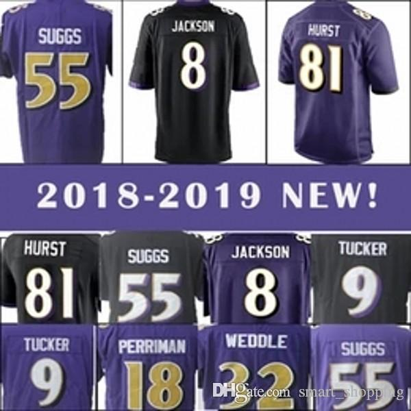 Best Quality 9 Justin Tucker Baltimore Ravens Jersey 8 Lamar Jackson ... 9a40dd729