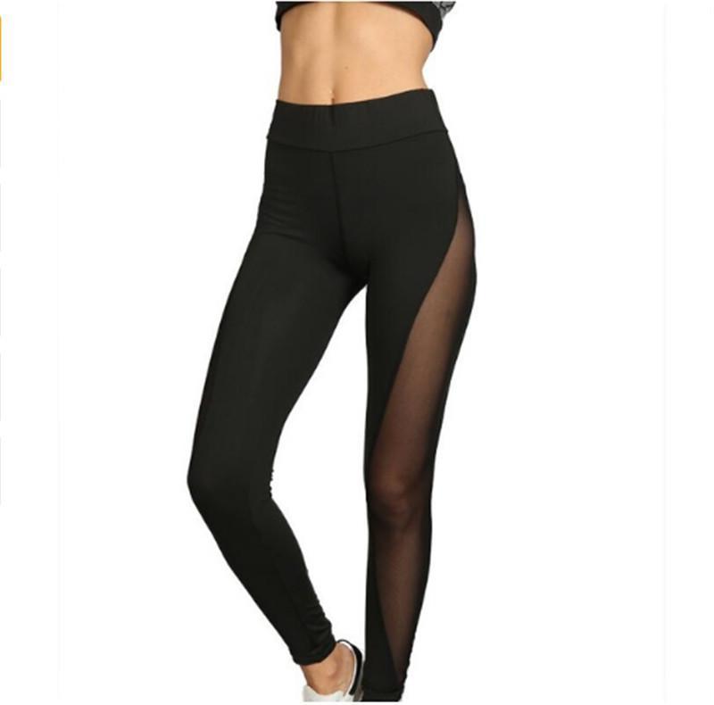 17f24197d4 Compre 2019 Pantalones De Yoga De Malla Deportiva Para Mujeres Gimnasio  Ejercicio Deportivo Correr Leggings De Yoga Pantalones Deportivos Gimnasio  ...