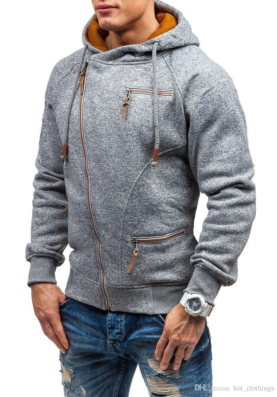 4a646db5212f Cappotto autunno inverno Cappotto con cerniera obliqua Cappotti e giacche  da uomo abbigliamento sportivo fitness Tuta