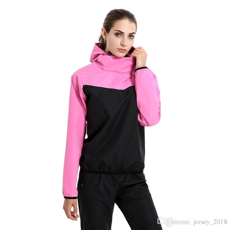 2019 Frauen Lauf Sport Jacken Polyester Langarm Fitness Kapuzen Laufen Jacke Frauen Laufsport T-shirt Schlägersportarten