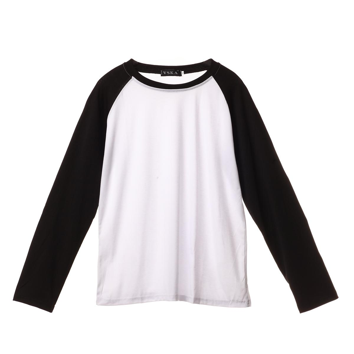 Correndo t-shirt manga comprida Plain Baseball Raglan T-shirt Tee Mens Sportswear Equipe 5 cores R Neck U